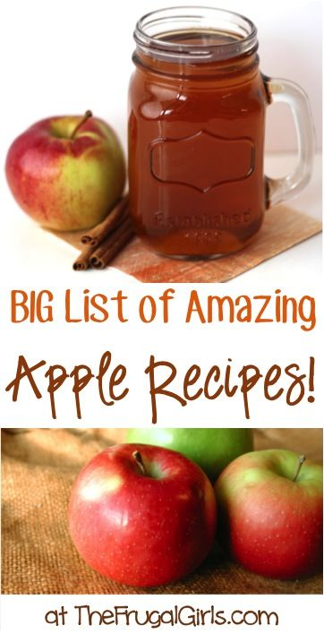 BIG List of Amazing Apple Recipes! ~ at TheFrugalGirls.com ~ Spiced Cider, Homemade Applesauce, Apple Pies + so many more delicious Fall Recipes! #apples