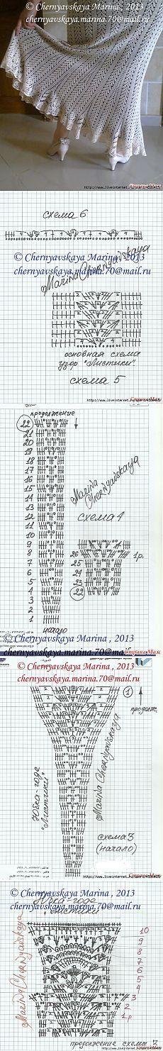 Вязание-крючок Костюмы и юбки+брюки >Юбка.