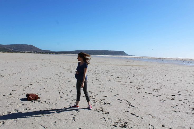 9 months pregnant, Noordhoek Beach, Cape Town