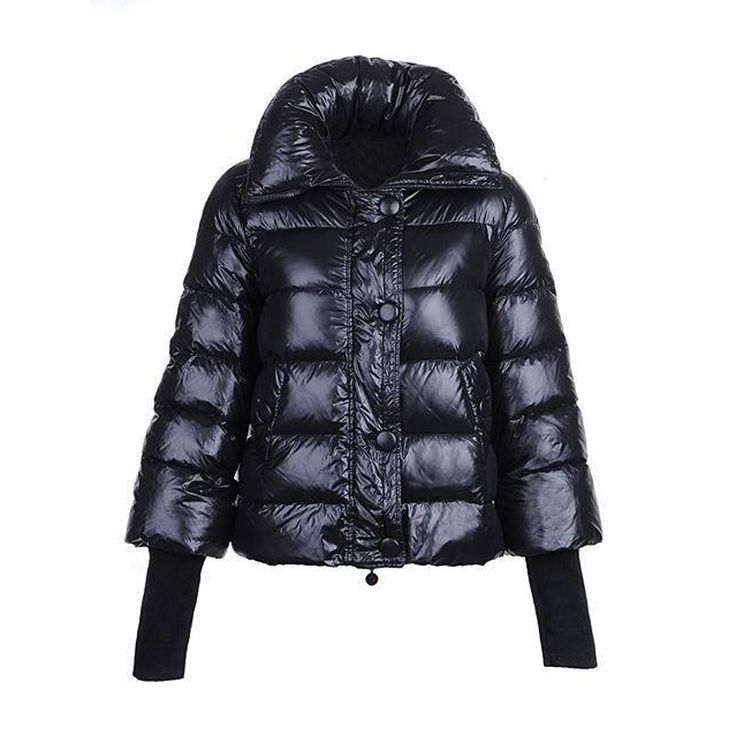 Women Moncler Black Tulsa Bubble Matte Jacket