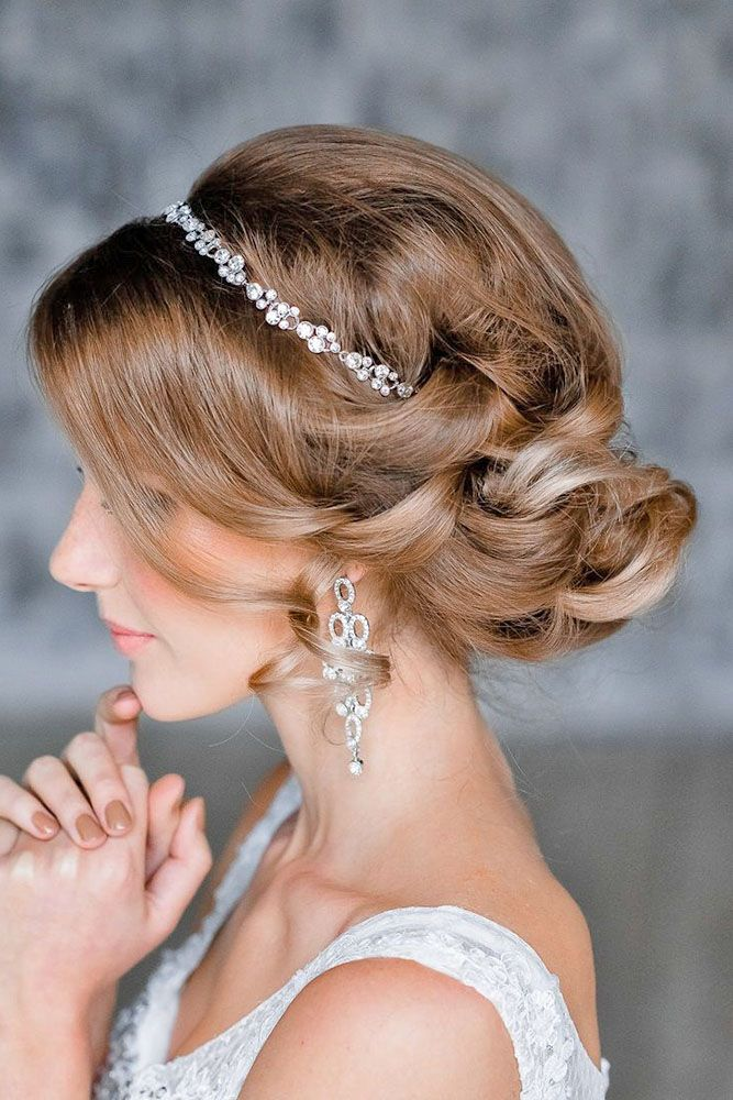 24 Stylish Easy Wedding Hairstyles ❤ See more: http://www.weddingforward.com/easy-wedding-hairstyles/ #weddings #hairstyles