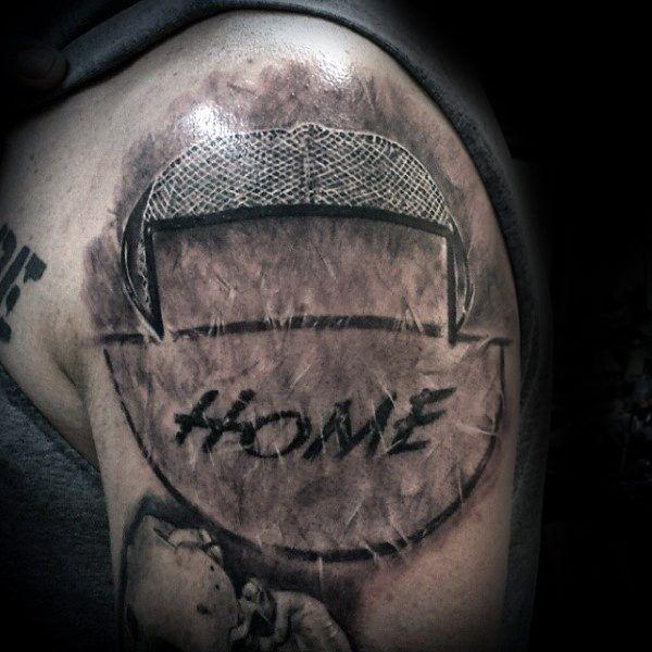 75 Hockey Tattoos For Men Nhl Design Ideas Hockey Tattoo Tattoos For Guys Ice Tattoo