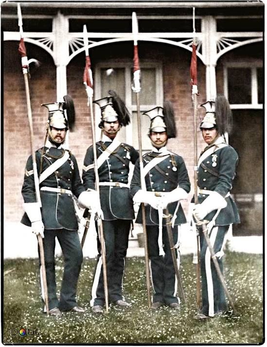 Colorized Lancers from Crimean War
