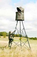 Tripod Stand Blind 360 Degree Big Game Hunting Blinds Cover All Roof Retracts
