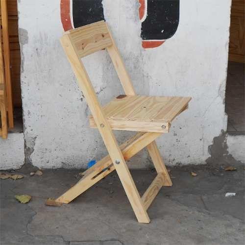 Silla plegable reforzada de madera patio quincho salidas for Sillas para quincho