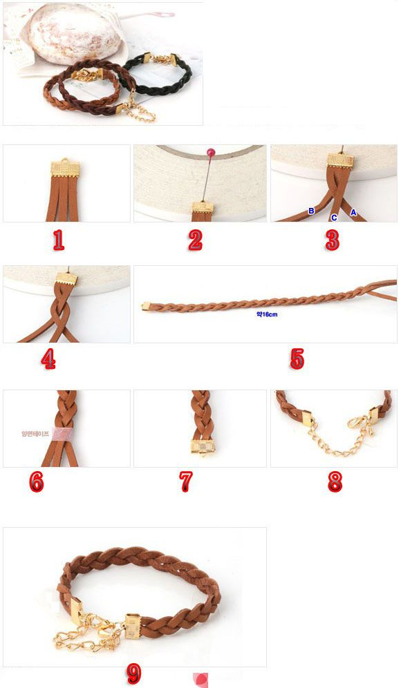 tuto bracelet cuir