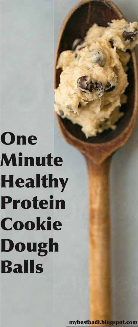 One Minute Healthy Protein Cookie Dough Balls - I LOVE cookie dough... but with all the sugar its hard to justify eating. This looks like a super tasty alternative!
