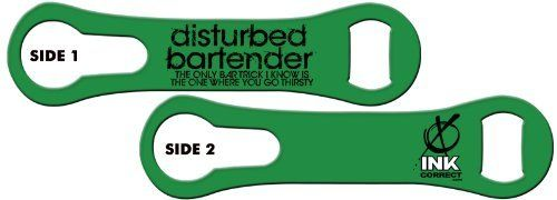 V-RODTM Bone Bottle Opener and Pour Spout Remover: Disturbed Bartender - Bar Tricks: Kelly Green by Ink Correct. $8.99. Bottle Opener & Pour Spout Remover  The revamped, sleek and multifunctional new version of the original Bartender's Bottle Opener, the V-RODTM Opener is the latest and greatest addition to our line of Killer Bartender Gear. The bone shaped design  features an ergonomic grip and an additional groove on the ring end that allows for the easy remova...