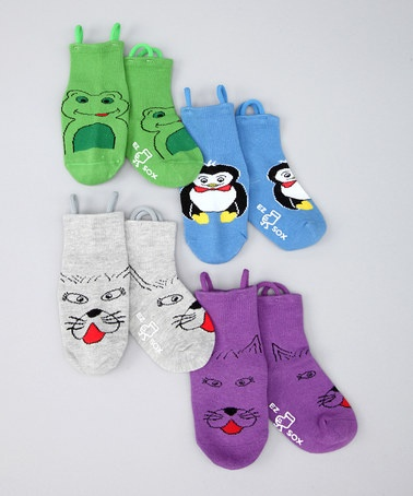 Love these socks for kiddos with special needs or who just need a little help learning to get their socks on!