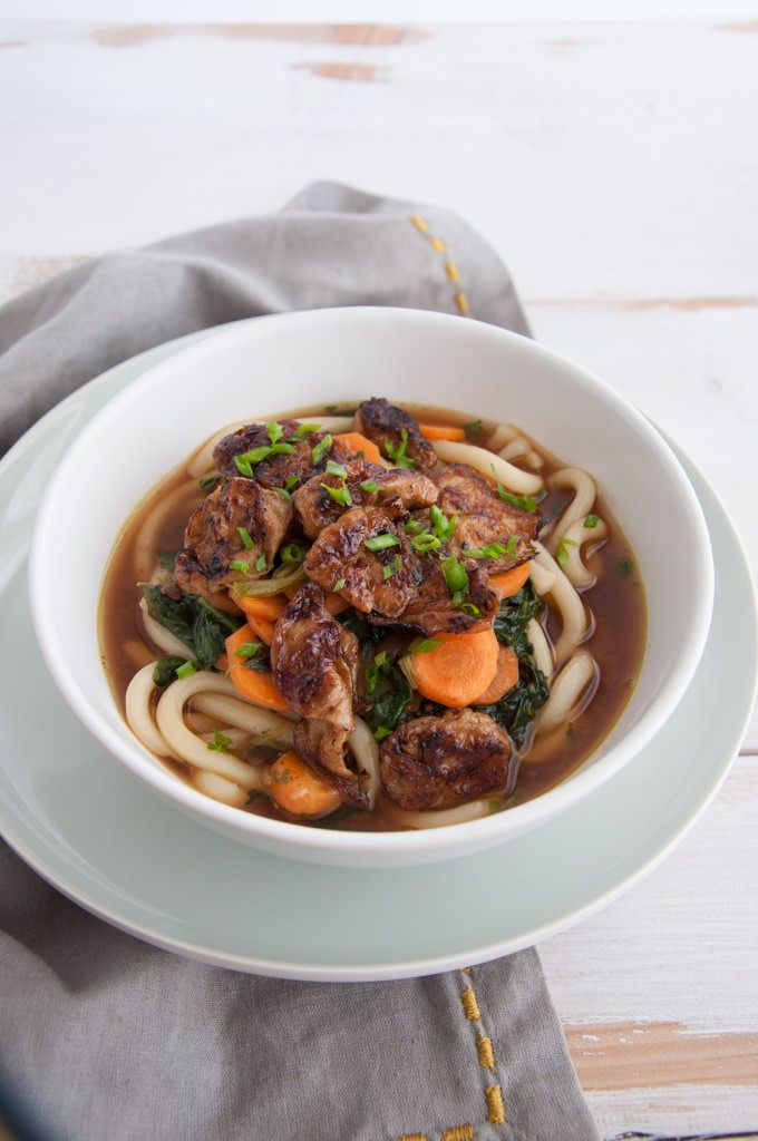 This vegan Miso Udon Noodle Soup is perfect for the colder seasons! It's warming and delicious. Mock Abalone makes the perfect topping!