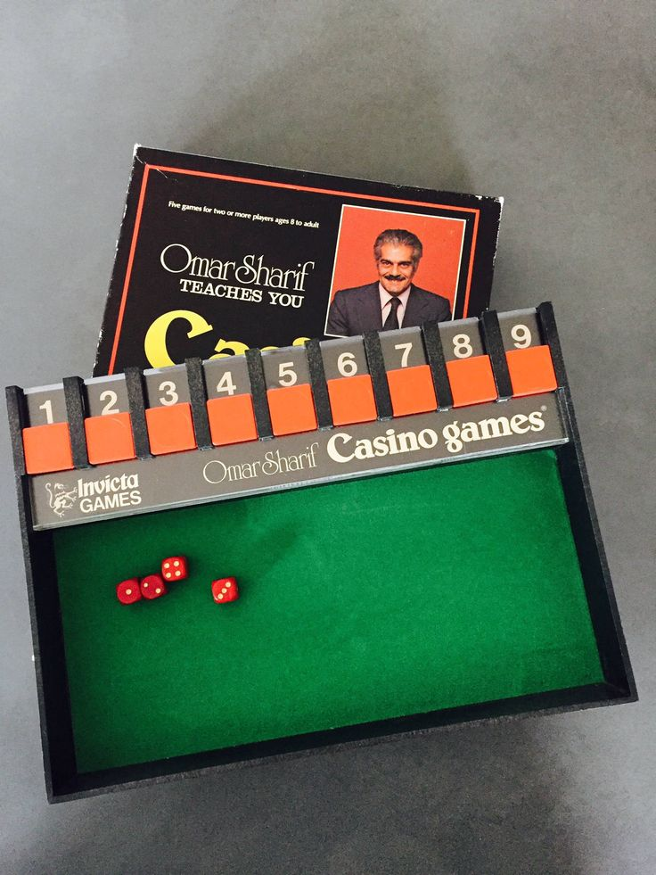 Vintage Casino Games, Omar Sharif, Invicta Games, Five Dice Games by missenpieces on Etsy