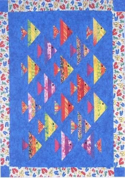 Details about 1 FISH, 2 FISH QUILTING PATTERN, A Strip Club Pattern From Cozy Quilt Designs