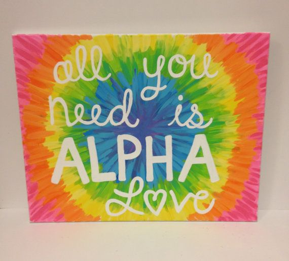 Alpha Love Canvas by LaurenFretz on Etsy, $23.00