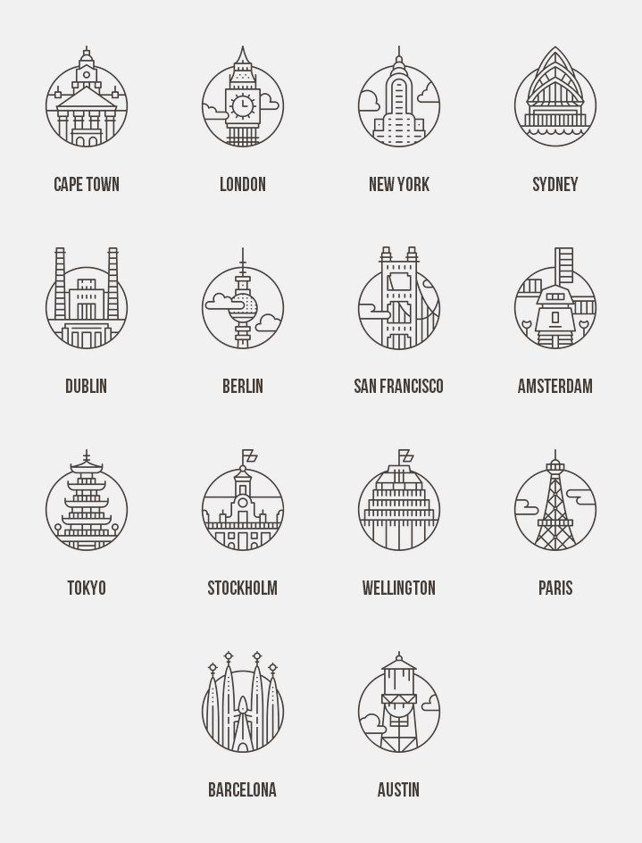 14 free City Icons »Lepix.org – Design Resources + Inspiration