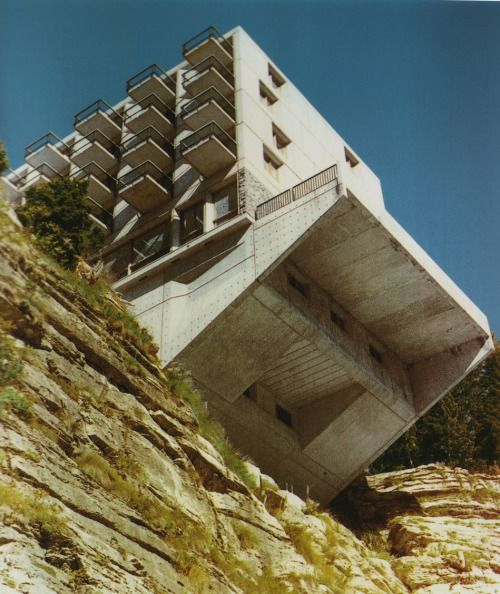 Marcel Breuer - Grand Hotel, Le Flaine 1969. Own scan from here.