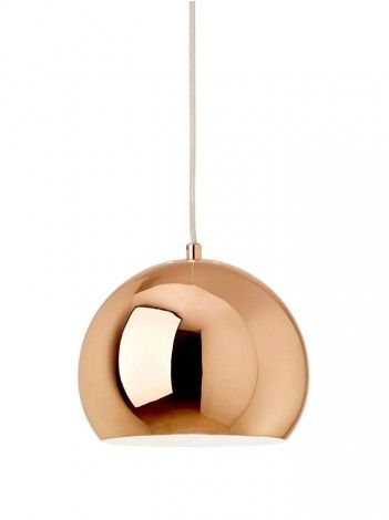 I really like copper in home decor, especially in lights.