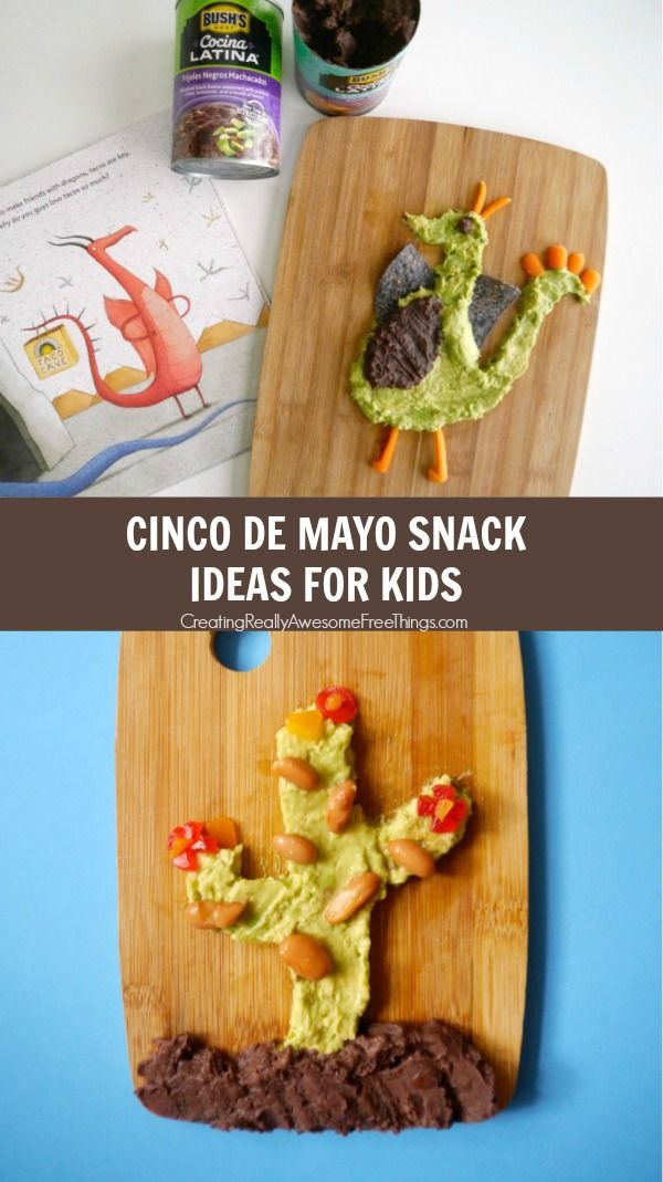 Cinco de Mayo snack ideas for kids based on the book Dragons Love Tacos!