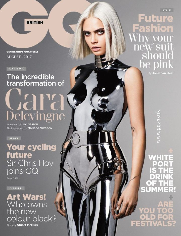 Cara Delevingne by Mariano Vivanco for British GQ, August 2017