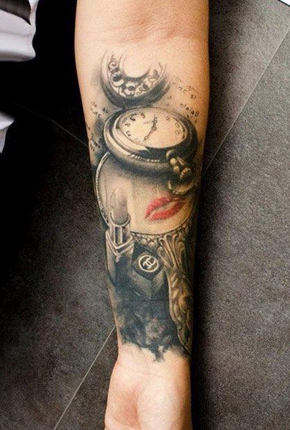 Time tattoo,Klaim borck, San Francisco