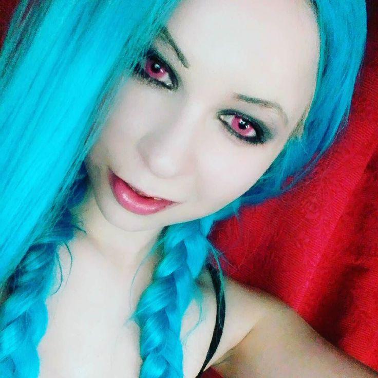Jinx makeup test #makeup #leagueoflegends #jinx #adc #cosplay #cosplaymakeup #cosplayer