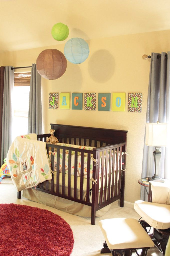 project nursery boy owl nursery crib view
