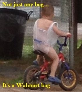 Mommy got him a new outfit.....FOLLOW THIS BOARD FOR CRAZY AND WILD PICS OF GOINGS ON AND THE WIERDO'S AT WALMART ... ... ..AC