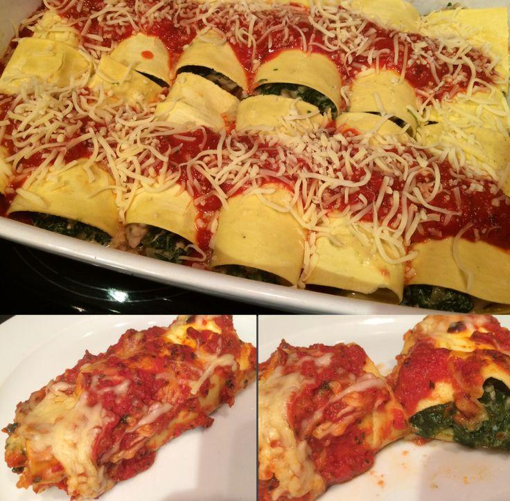 Heerlijke cannelloni met spinazie