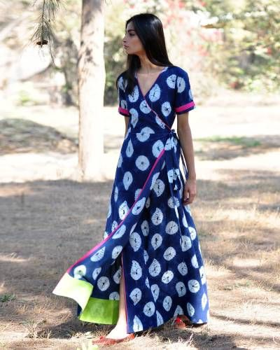 Indigo Rush Shibori Gown I Shop at :http://www.thesecretlabel.com/khara-kapas