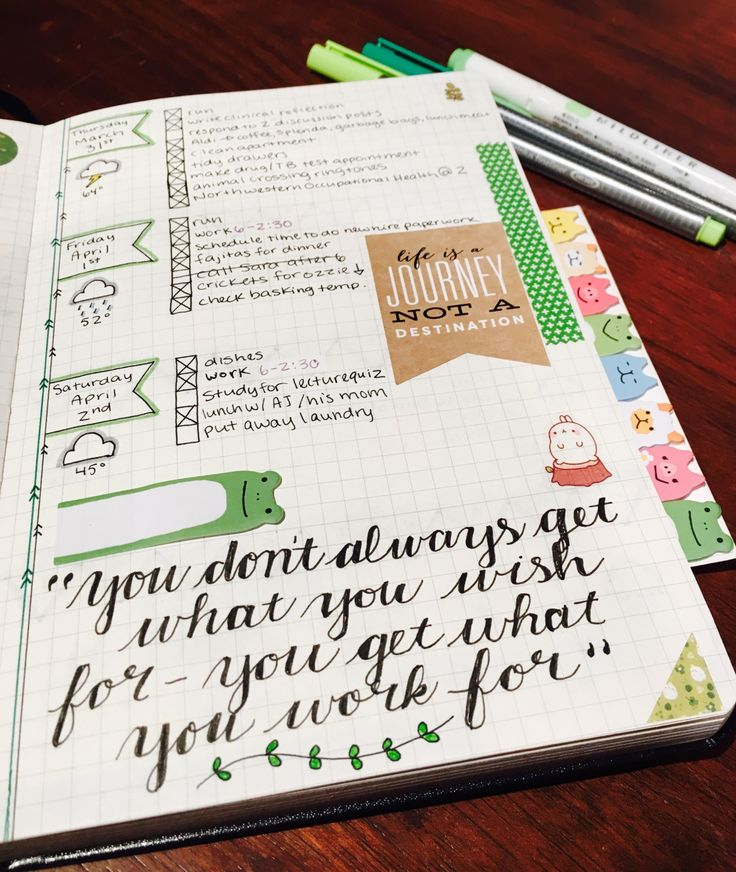 "tinypandacakes: "" 04.03.16 last week's bullet journal theme Only 6 weeks left of this psych nursing course…I really need to buckle down and read! I've been getting distracted and ordering more..."