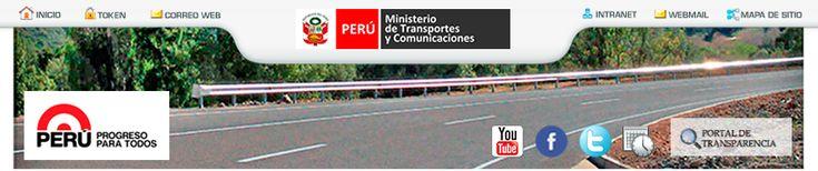 .:: Ministerio de Transportes y Comunicaciones ::.