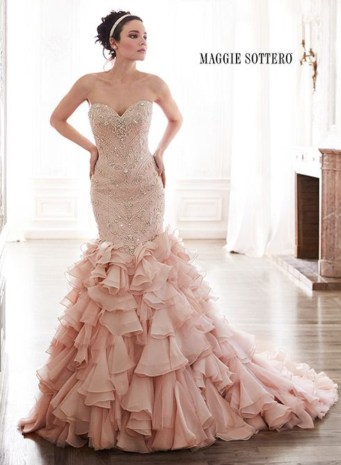 Large View of the Serencia Bridal Gown. Maggie sottero spring 2015