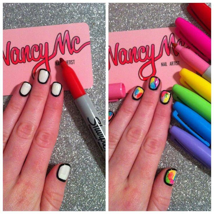 Sharpie design - sharpie nails - 9 Best Sharpie Nail Art Images On Pinterest Sharpie Nail Art