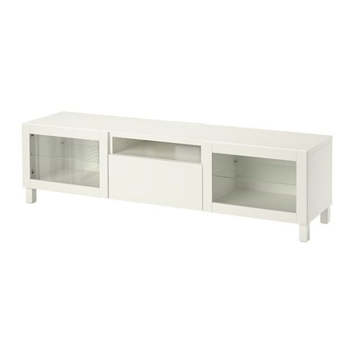 BESTÅ TV unit IKEA The drawers and door close silently and softly, thanks to the integrated soft-closing function.