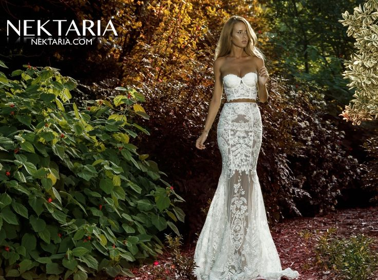 More fabulous creations from young fresh designer Nektaria. Simply beautiful lace gown here. See her whole collection on our catwalk in 2015.