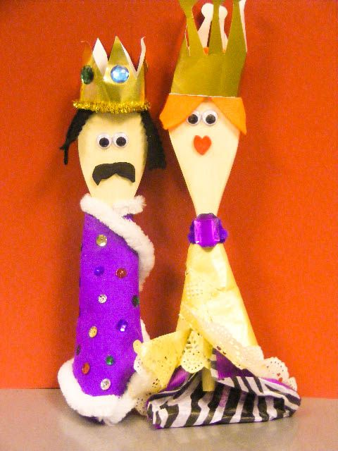 king and queen puppets for kids