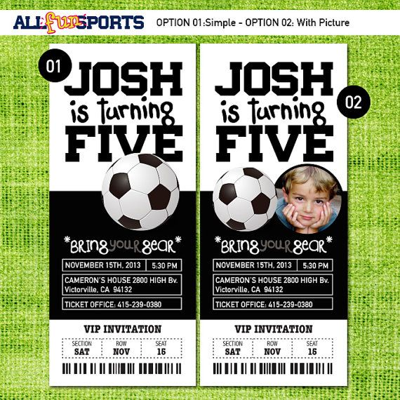 The 25 best Soccer tickets ideas – Birthday Invitation Tickets