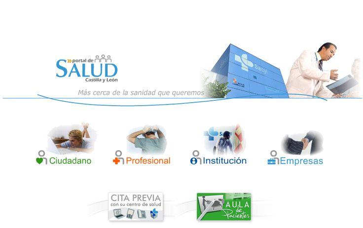 Portal de Salud de la Junta de Castilla y León - Aula pacientes y Cita previa