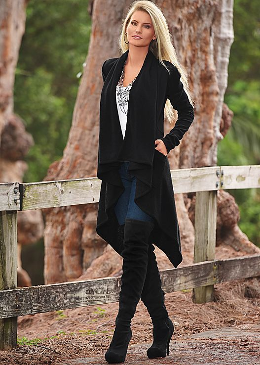 Every girl needs a cardigan with the 3 C's. Cozy, cute and comfy! Venus cozy sweater cardigan. Sizes XS-XL!