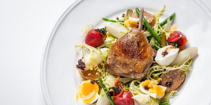 A melange of beautiful ingredients make up this duck leg salad recipe from Adam Byatt.