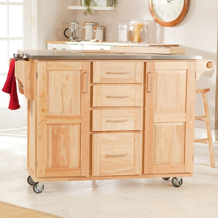 the fairmont kitchen cart with optional stools the fairmont cart is the ideal kitchen cart for serious cooks constructed of solid rubberwood with a : leaf kitchen cart