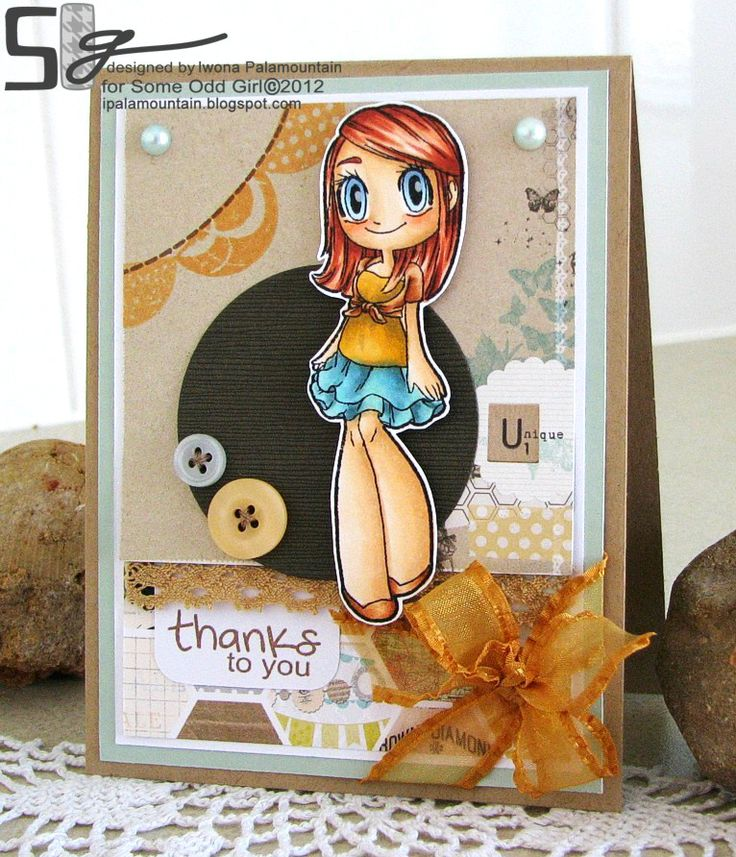 This is such a cute card,but I think my favorite part is that the lil gal has realistic legs!! Yay for thick! :-): Projects Features, Cards But, Cute Cards, Girls Marching, Crafts Ideas, Girls Blog, Clear Stamps, Odd Girls, Diy Projects