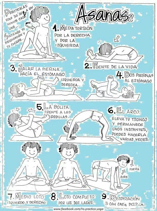 Las #Asanas de Yoga resumidas para niños.
