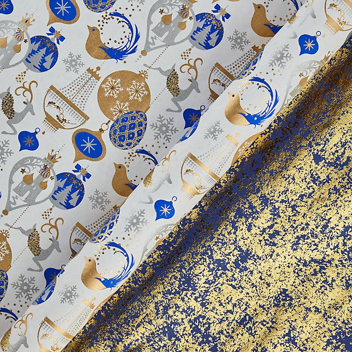 Handmade from recycled cotton, this luxury gift wrap is screen printed, using gold ink, glitter highlights and hand crushed gold foil, to create vibrant, vivid colour that really captures the Winter Palace theme.