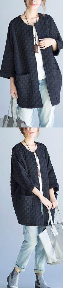 black-casual-fashion-cotton-cardigan-plus-size-bracelet-sleeved-cardigan-outwear1