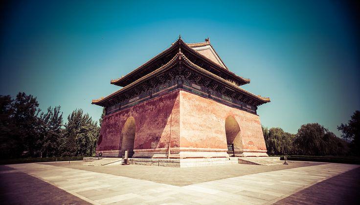 Stele pavilion at Ming Tombs, China
