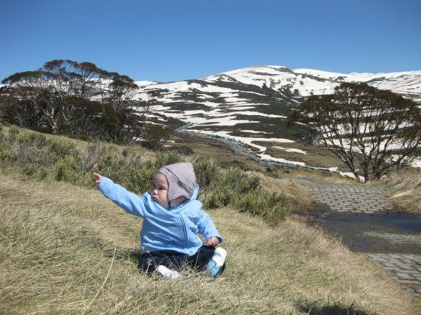 Little J on the mountainside, Kosciuszko National Park (near Jindabyne and the Snowy River)