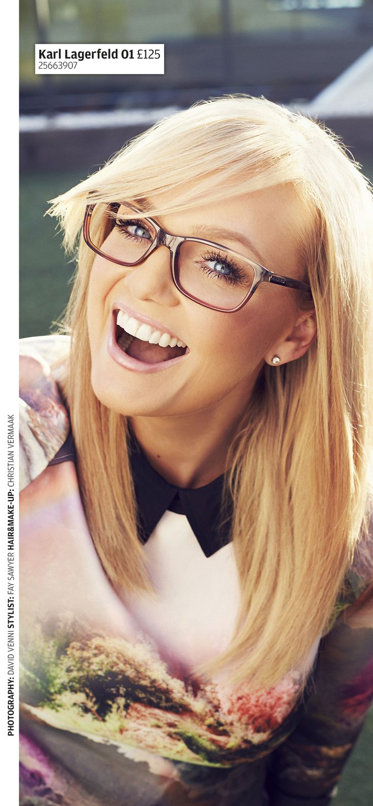 Emma Bunton (Baby Spice) in Karl Lagerfeld 01 by Specsavers.