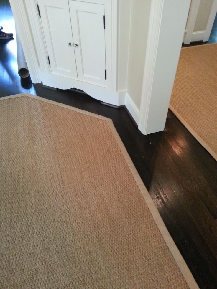 seagrass rug custom fit to room