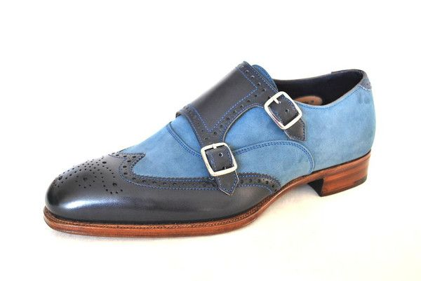 Alfred Sargent Blue Two Tone Brogues www.theshoesnobblog.com