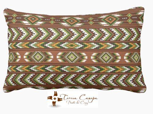 ✄ PATRON PUNTO CRUZ  Cojin I Largo  Medidas a convenir  Para bordar con lanas delgadas, en esterilla delgada. http://puntocruzandino.weebly.com/